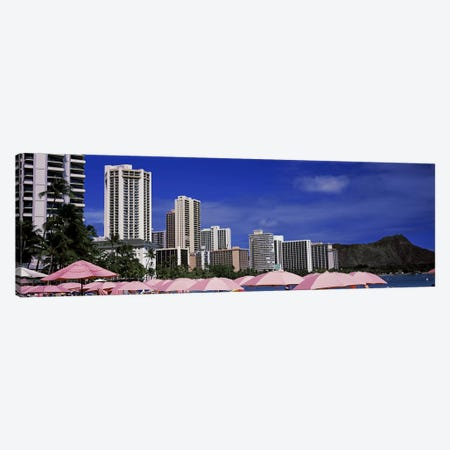 Skyscrapers at the waterfront, Honolulu, Oahu, Hawaii, USA Canvas Print #PIM9220} by Panoramic Images Canvas Wall Art