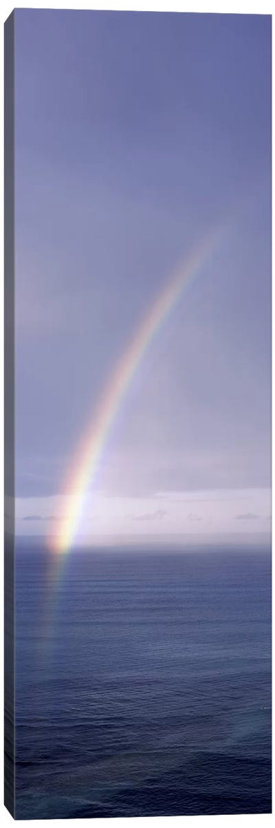 Rainbow over ocean, Honolulu, Oahu, Hawaii, USA Canvas Art Print
