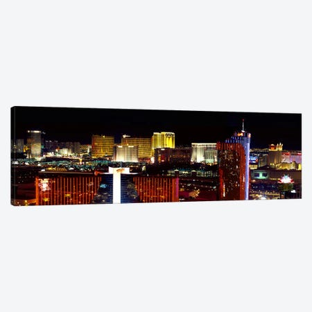 High angle view of a city at night, Las Vegas, Clark County, Nevada, USA 2011 Canvas Print #PIM9226} by Panoramic Images Art Print