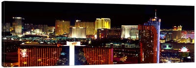 High angle view of a city at night, Las Vegas, Clark County, Nevada, USA 2011 Canvas Art Print