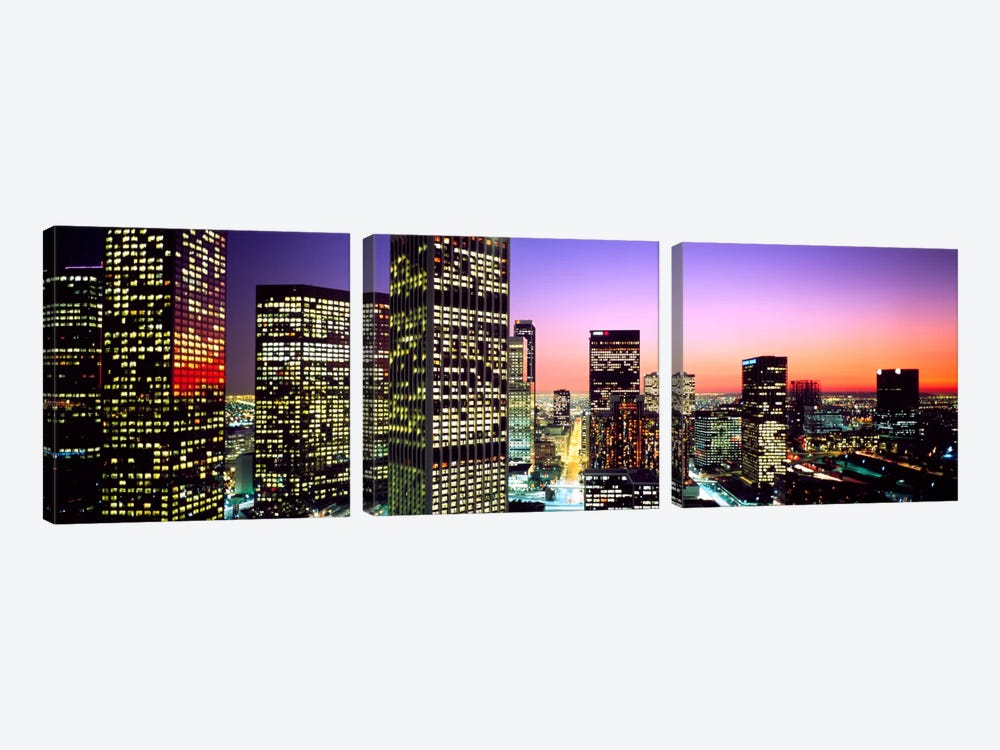Downtown Los Angeles CA USA by Panoramic Images 3-piece Canvas Art