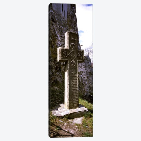 Stone cross at a castle, Bran Castle, Brasov, Transylvania, Mures County, Romania Canvas Print #PIM9231} by Panoramic Images Canvas Print