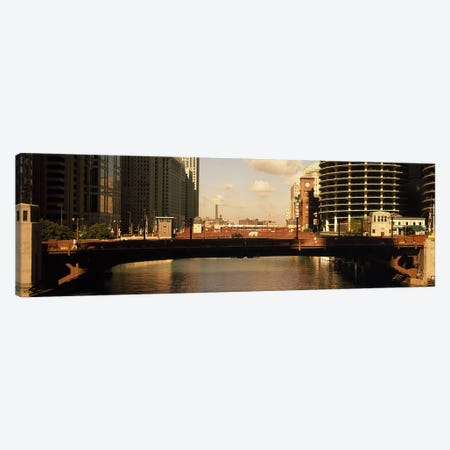 Buildings at the waterfront, Marina Towers, Chicago River, Chicago, Cook County, Illinois, USA Canvas Print #PIM9236} by Panoramic Images Canvas Artwork