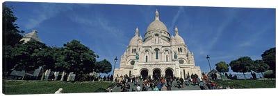 Crowd at a basilica, Basilique Du Sacre Coeur, Montmartre, Paris, Ile-de-France, France Canvas Print #PIM9237