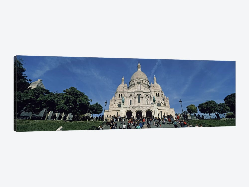 Crowd at a basilica, Basilique Du Sacre Coeur, Montmartre, Paris, Ile-de-France, France by Panoramic Images 1-piece Canvas Artwork