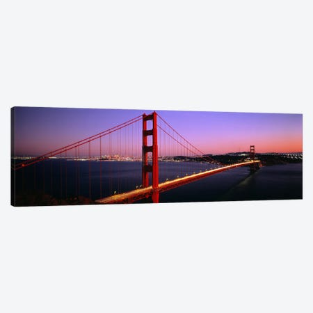 Night Golden Gate Bridge San Francisco CA USA Canvas Print #PIM923} by Panoramic Images Art Print