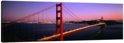 Night Golden Gate Bridge San Francisco CA USA Canvas Art Print