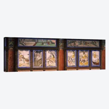 Paintings in a Buddhist temple, Kayasan Mountains, Haeinsa Temple, Gyeongsang Province, South Korea Canvas Print #PIM9248} by Panoramic Images Canvas Art