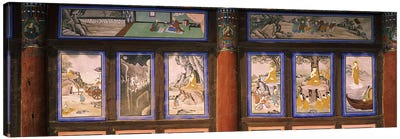 Paintings in a Buddhist temple, Kayasan Mountains, Haeinsa Temple, Gyeongsang Province, South Korea by Panoramic Images Canvas Art