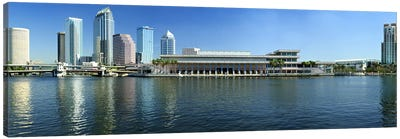 Buildings at the waterfront, Tampa, Hillsborough County, Florida, USA Canvas Art Print