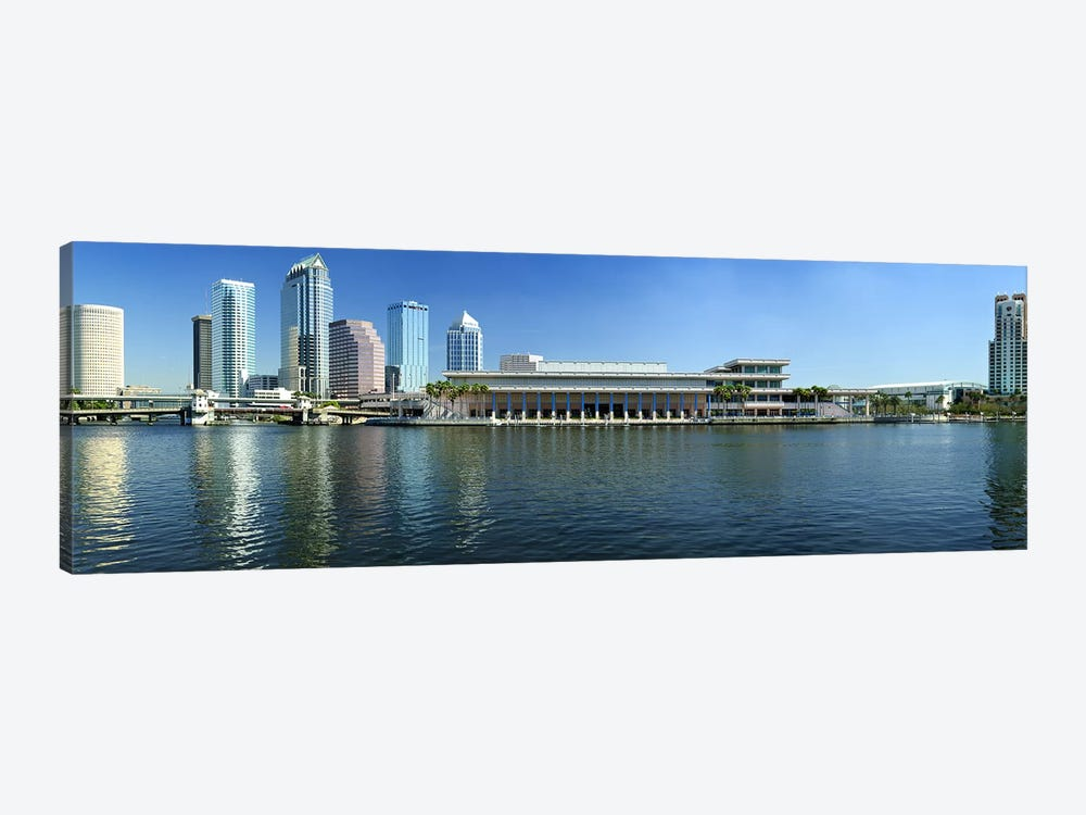 Buildings at the waterfront, Tampa, Hillsborough County, Florida, USA by Panoramic Images 1-piece Canvas Wall Art