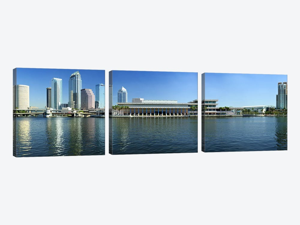 Buildings at the waterfront, Tampa, Hillsborough County, Florida, USA by Panoramic Images 3-piece Canvas Artwork