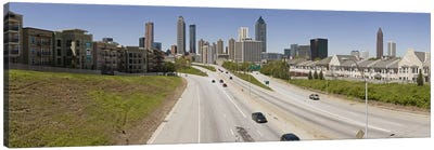 Vehicles moving on the road leading towards the city, Atlanta, Georgia, USA Canvas Print #PIM9253