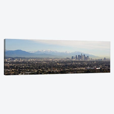 High angle view of a city, Los Angeles, California, USA #2 Canvas Print #PIM9258} by Panoramic Images Art Print