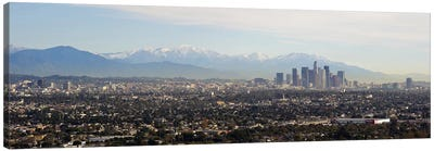 High angle view of a city, Los Angeles, California, USA #2 Canvas Art Print