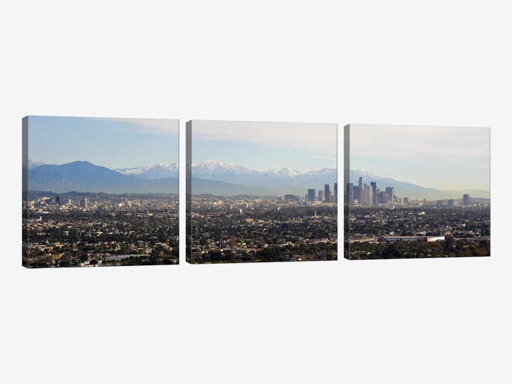 High angle view of a city, Los Angeles, California, USA #2 by Panoramic Images 3-piece Canvas Print