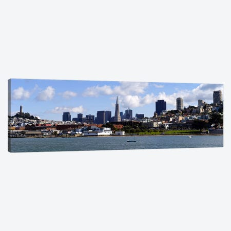 City at the waterfront, Coit Tower, Telegraph Hill, San Francisco, California, USA Canvas Print #PIM9259} by Panoramic Images Art Print