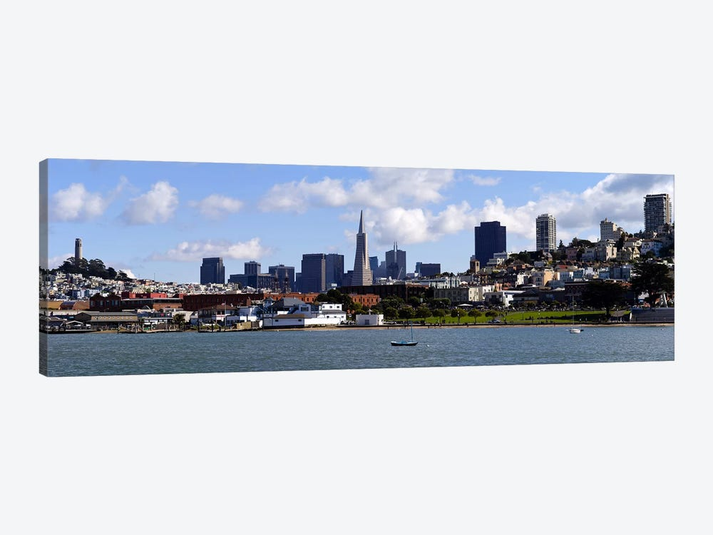 City at the waterfront, Coit Tower, Telegraph Hill, San Francisco, California, USA by Panoramic Images 1-piece Canvas Wall Art