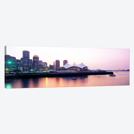 Skyscrapers at the waterfront, Charles river, Boston, Massachusetts, USA Canvas Print #PIM925} by Panoramic Images Canvas Wall Art