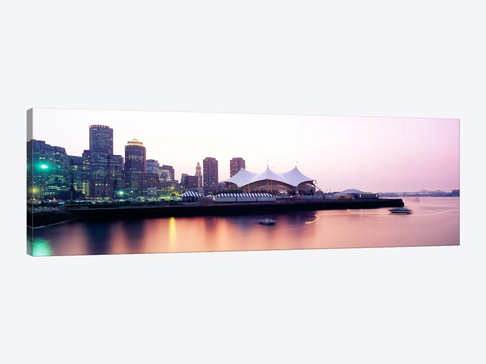 Skyscrapers at the waterfront, Charles river, Boston, Massachusetts, USA by Panoramic Images 1-piece Art Print