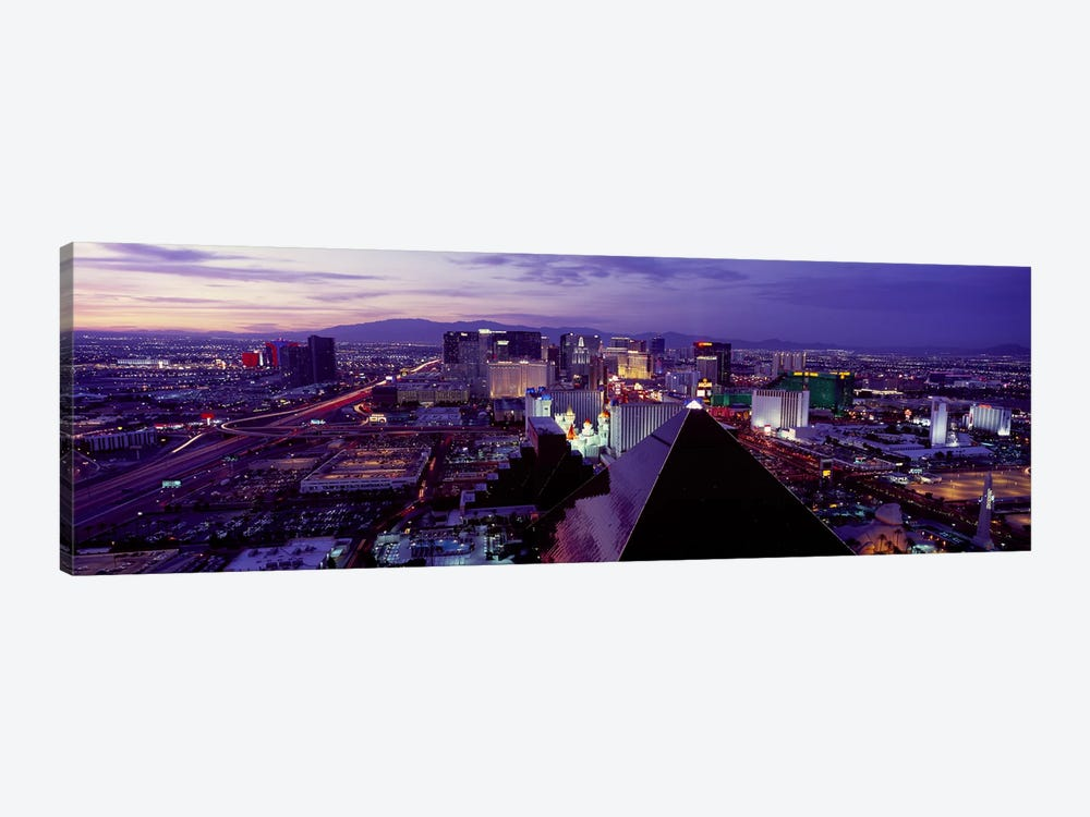 City lit up at dusk, Las Vegas, Clark County, Nevada, USA by Panoramic Images 1-piece Canvas Print