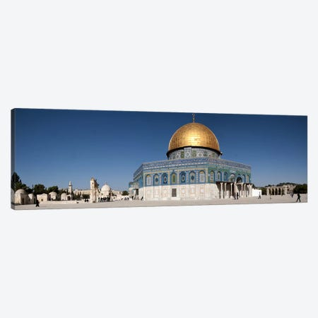 Town square, Dome Of the Rock, Temple Mount, Jerusalem, Israel Canvas Print #PIM9264} by Panoramic Images Canvas Art Print