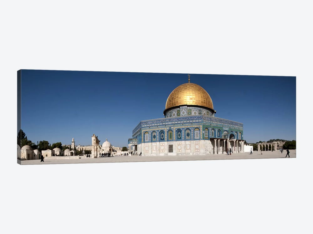 Town square, Dome Of the Rock, Temple Mount, Jerusalem, Israel by Panoramic Images 1-piece Canvas Wall Art