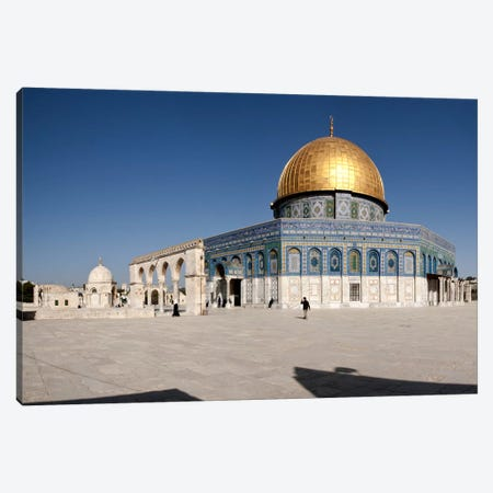 Town square, Dome Of the Rock, Temple Mount, Jerusalem, Israel #2 Canvas Print #PIM9265} by Panoramic Images Art Print
