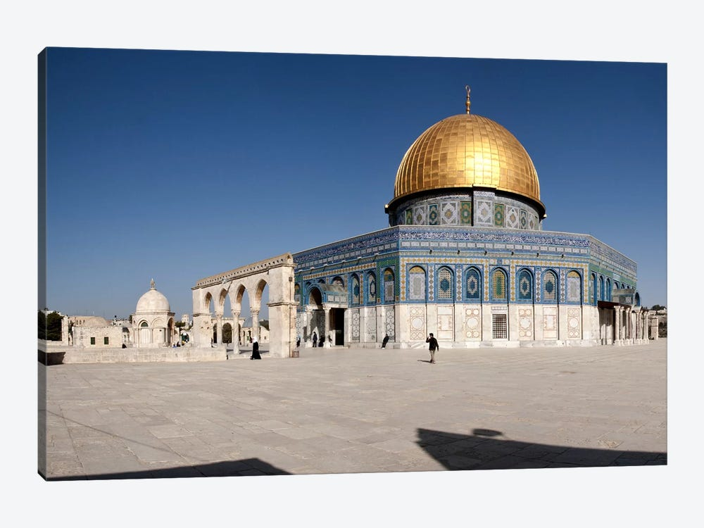 Town square, Dome Of the Rock, Temple Mount, Jerusalem, Israel #2 by Panoramic Images 1-piece Canvas Print