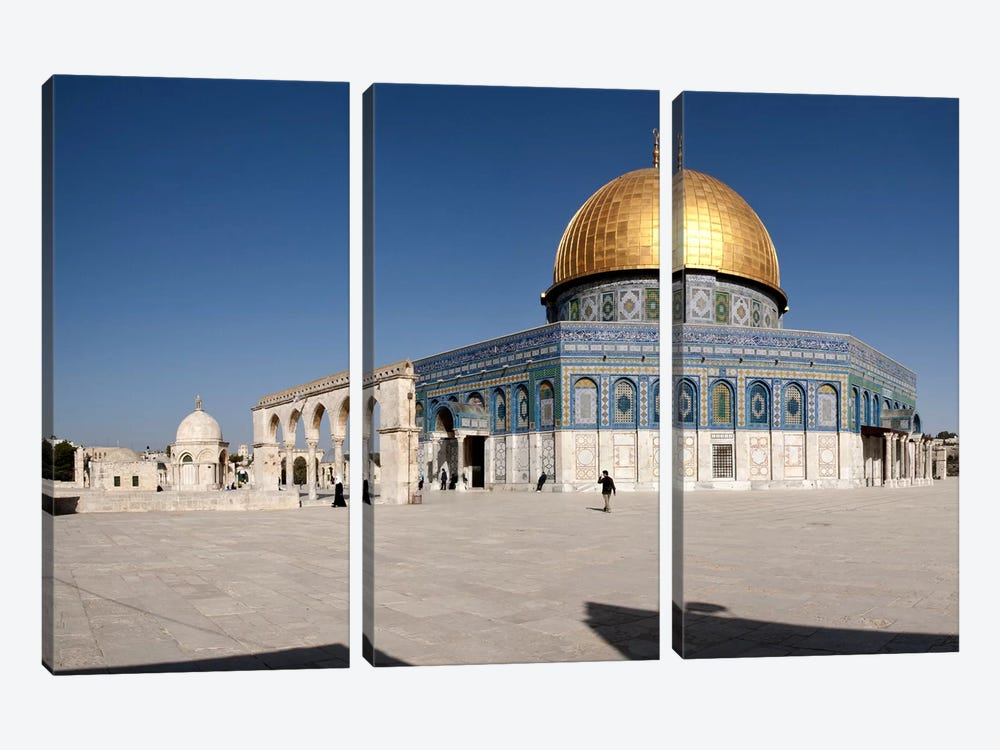 Town square, Dome Of the Rock, Temple Mount, Jerusalem, Israel #2 by Panoramic Images 3-piece Art Print