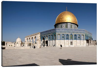 Town square, Dome Of the Rock, Temple Mount, Jerusalem, Israel #2 Canvas Art Print
