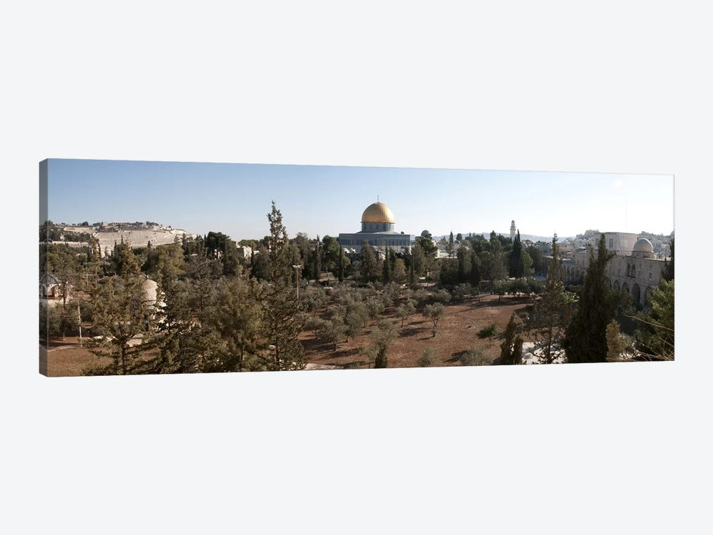 Trees with mosque in the background, Dome Of the Rock, Temple Mount, Jerusalem, Israel by Panoramic Images 1-piece Canvas Wall Art