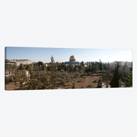 Trees with mosque in the background, Dome Of the Rock, Temple Mount, Jerusalem, Israel Canvas Print #PIM9266} by Panoramic Images Art Print