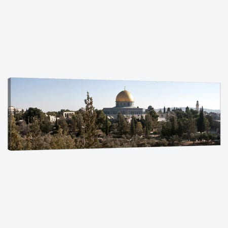 Trees with mosque in the background, Dome Of the Rock, Temple Mount, Jerusalem, Israel #2 Canvas Print #PIM9267} by Panoramic Images Canvas Print