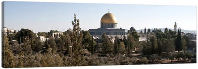 Trees with mosque in the background, Dome Of the Rock, Temple Mount, Jerusalem, Israel #2 Canvas Art Print