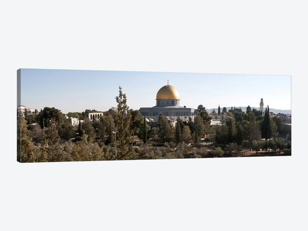 Trees with mosque in the background, Dome Of the Rock, Temple Mount, Jerusalem, Israel #2 by Panoramic Images 1-piece Art Print