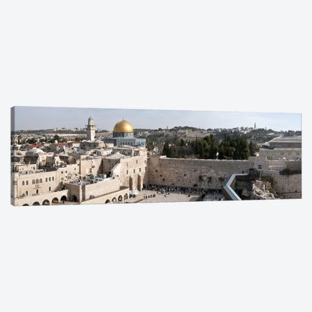 Tourists praying at a wall, Wailing Wall, Dome Of the Rock, Temple Mount, Jerusalem, Israel Canvas Print #PIM9269} by Panoramic Images Canvas Wall Art