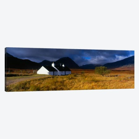 Blackrock Cottage (Climbing Hut Of The Ladies' Scottish Climbing Club), Near Glen Coe, Highlands, Scotland Canvas Print #PIM926} by Panoramic Images Canvas Wall Art