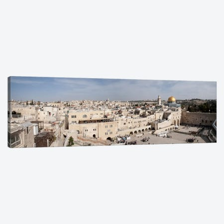 Tourists praying at a wall, Wailing Wall, Dome Of the Rock, Temple Mount, Jerusalem, Israel #2 Canvas Print #PIM9270} by Panoramic Images Canvas Print