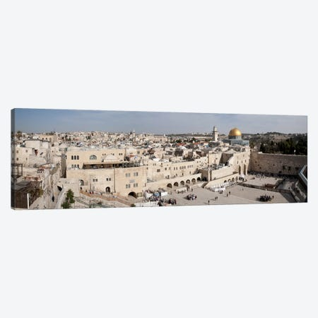 Tourists praying at a wall, Wailing Wall, Dome Of the Rock, Temple Mount, Jerusalem, Israel #3 Canvas Print #PIM9271} by Panoramic Images Art Print