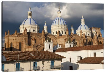 Low angle view of a cathedral, Immaculate Conception Cathedral, Cuenca, Azuay Province, Ecuador Canvas Art Print
