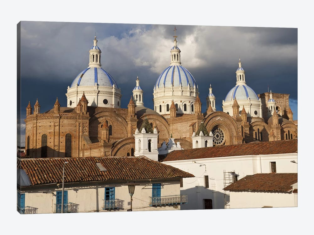 Low angle view of a cathedral, Immaculate Conception Cathedral, Cuenca, Azuay Province, Ecuador by Panoramic Images 1-piece Canvas Print