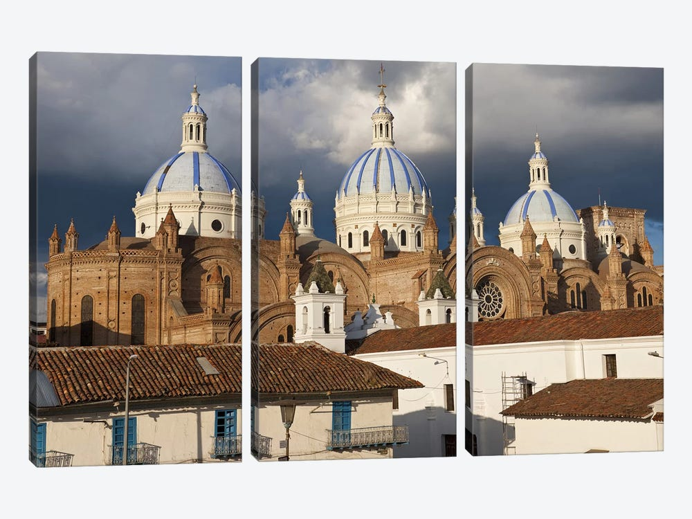 Low angle view of a cathedral, Immaculate Conception Cathedral, Cuenca, Azuay Province, Ecuador by Panoramic Images 3-piece Art Print