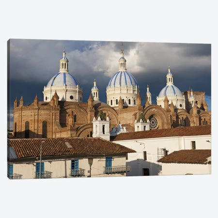 Low angle view of a cathedral, Immaculate Conception Cathedral, Cuenca, Azuay Province, Ecuador Canvas Print #PIM9272} by Panoramic Images Canvas Art Print
