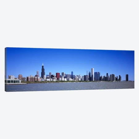 Skyscrapers at the waterfront, Willis Tower, Shedd Aquarium, Chicago, Cook County, Illinois, USA 2011 Canvas Print #PIM9279} by Panoramic Images Canvas Print