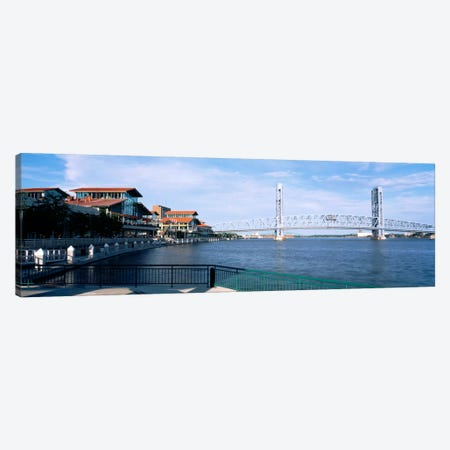 Bridge Over A River, Main Street, St. Johns River, Jacksonville, Florida, USA Canvas Print #PIM927} by Panoramic Images Canvas Artwork