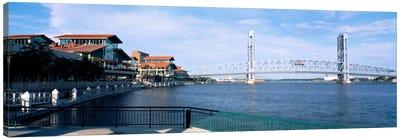 Bridge Over A River, Main Street, St. Johns River, Jacksonville, Florida, USA Canvas Art Print