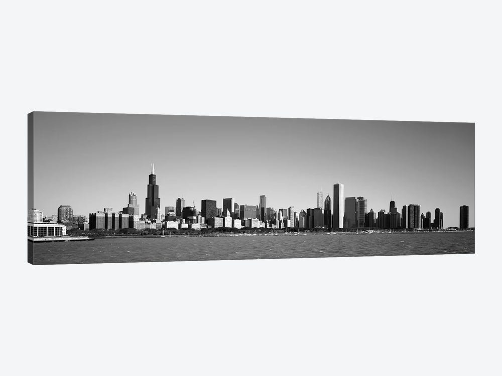 Skyscrapers at the waterfront, Willis Tower, Chicago, Cook County, Illinois, USA by Panoramic Images 1-piece Canvas Art