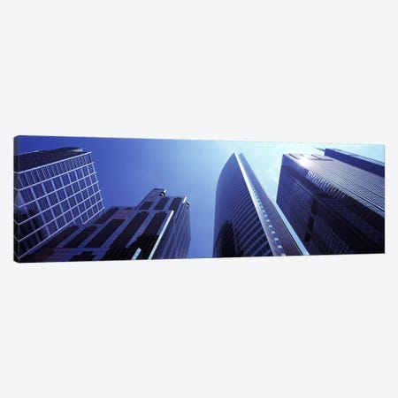 Low angle view of skyscrapers, Chicago, Cook County, Illinois, USA Canvas Print #PIM9281} by Panoramic Images Canvas Artwork