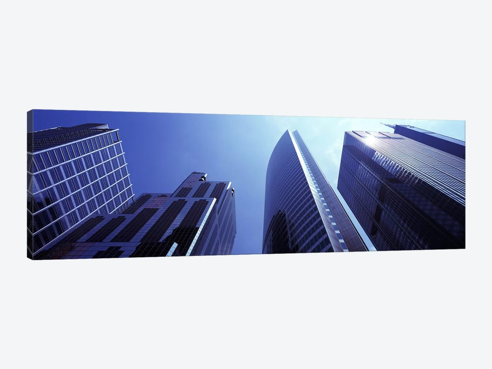 Low angle view of skyscrapers, Chicago, Cook County, Illinois, USA by Panoramic Images 1-piece Canvas Print